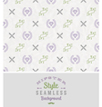 Hipster style seamless background vector image vector image