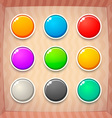 Colorful Game Buttons vector image vector image
