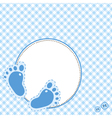 baby footsteps vector image vector image