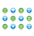 energy and nature icons vector image