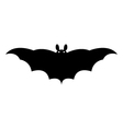 bat on a white background vector image