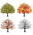Different seasons of art tree vector image