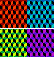 four cubic seamless patterns vector image