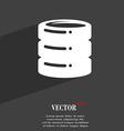 hard disk icon symbol Flat modern web design with vector image