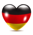 Heart shaped icon with flag of Germany vector image