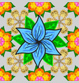 indian floral paisley medallion pattern ethnic vector image