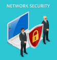 network security computer security personal vector image