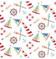 Pattern ships vector image