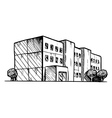 residential building vector image