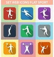Set of sports games vector image