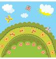 Summer landscape for kids vector image