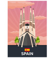 travel poster to spain flat vector image