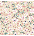 Abstract cute seamless floral pattern vector image