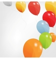 Set of colored balloons  EPS 10 vector image