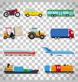 flat car icons on transparent background vector image vector image