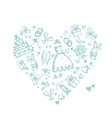 Wedding background heart shape for your design vector image vector image
