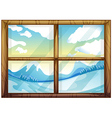 A view of the winter from the window vector image vector image