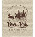 retro brewery vector image vector image