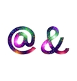 Set of signs at and ampersand firework vector image