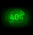 404 error not found page in style scan radar vector image