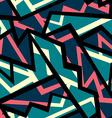 retro blue geometric seamless pattern vector image