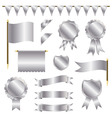 silver decorations vector image