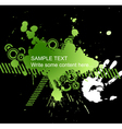 abstract green grunge vector image vector image