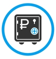 Rouble Bank Safe Icon vector image