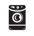 Clothes washer icon vector image
