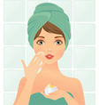 Beautician vector image