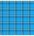 Blue plaid fabric vector image