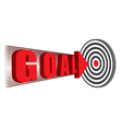 goal hitting the target vector image
