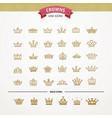 heraldic elements design set of golden crowns vector image