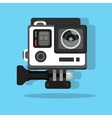 High definition photo video go camera pro action vector image