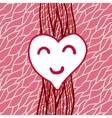 striped background with heart vector image