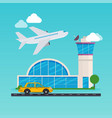 airport area flat design modern concept vector image
