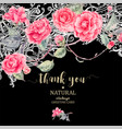 vintage natural lace and camellia flowers vector image
