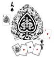 Spade Ace vector image vector image