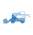 agriculture vehicle concept - cultivation seeding vector image