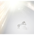 Horses profile in grayscale backdrop vector image