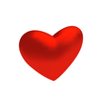 red three-dimensional heart isolated on white vector image