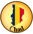 button Chad vector image