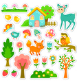 forest stickers design vector image