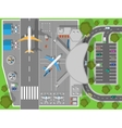Airport a Top View Terminal and Aircraft vector image