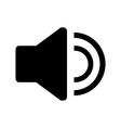 Audio speaker icon vector image