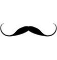 Black mustache icon vector image