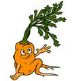 Cartoon Carrot vector image