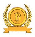 golden bitcoin icon digital symbol vector image