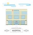hospital building set for create city landscape vector image