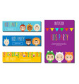 kids party banners design template children in vector image